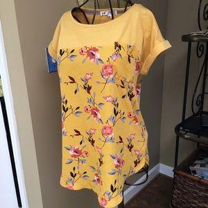 JOLT tee short sleeves, floral, XL